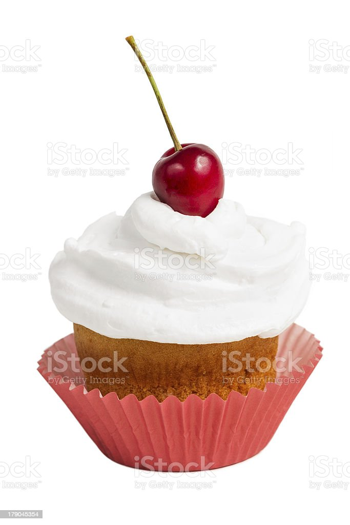 Cup cake isolated on white royalty-free stock photo