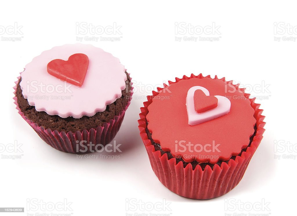 Cup Cake Valentine royalty-free stock photo