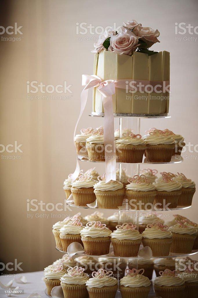 Cup Cake Wedding royalty-free stock photo