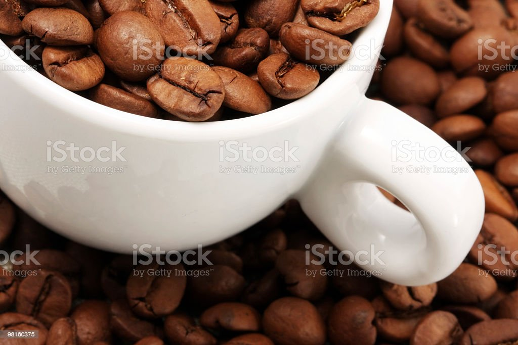 Cup coffee of beans royalty-free stock photo