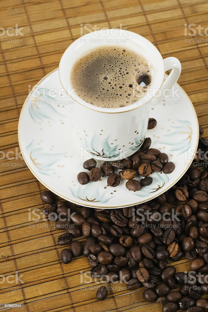 Cup from coffee on a saucer royalty-free stock photo