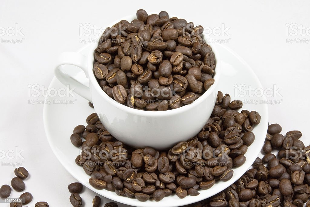 Cup Full Of Coffee stock photo