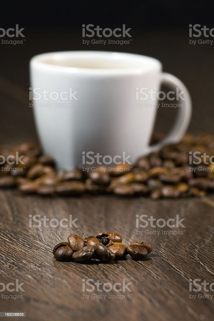 Cup full of coffee royalty-free stock photo
