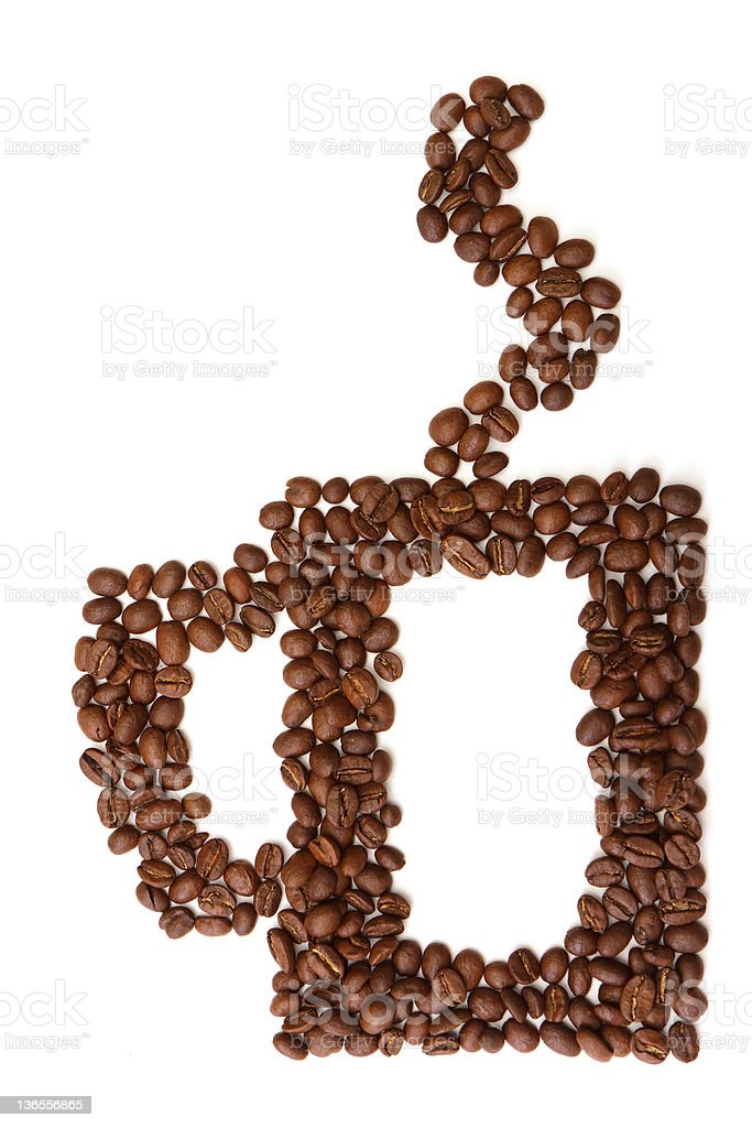 cup made from coffee beans royalty-free stock photo
