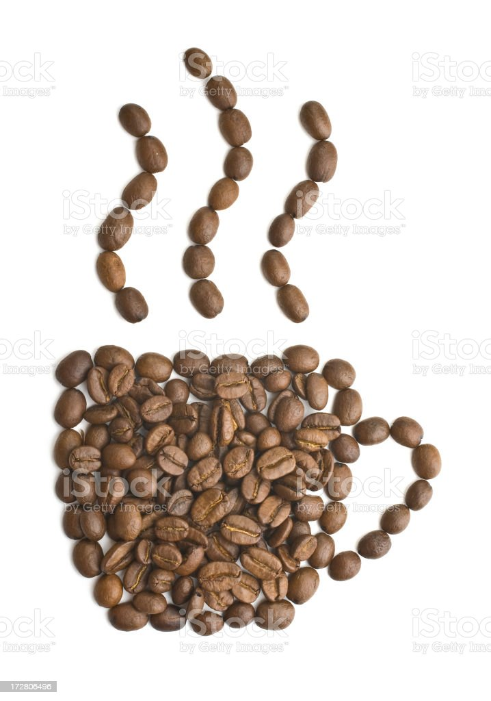 Cup made of cofee beans royalty-free stock photo
