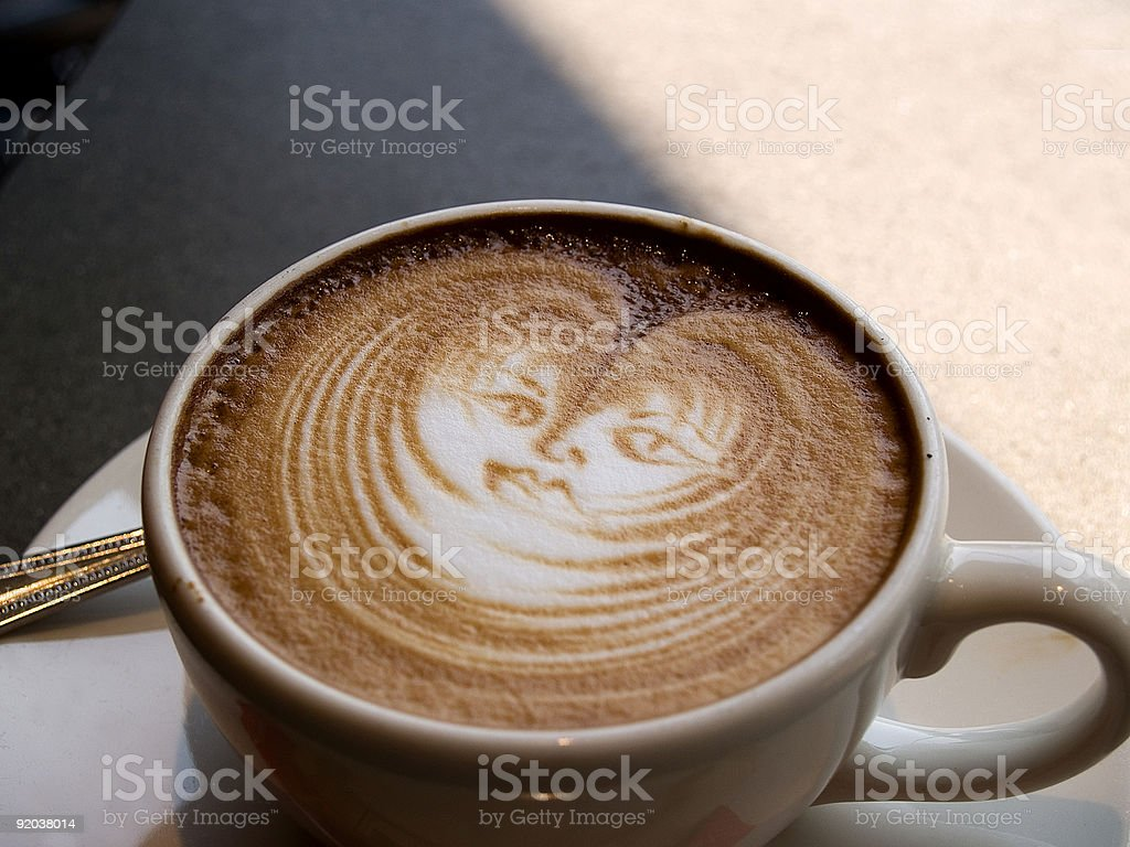 Cup o' Cino royalty-free stock photo