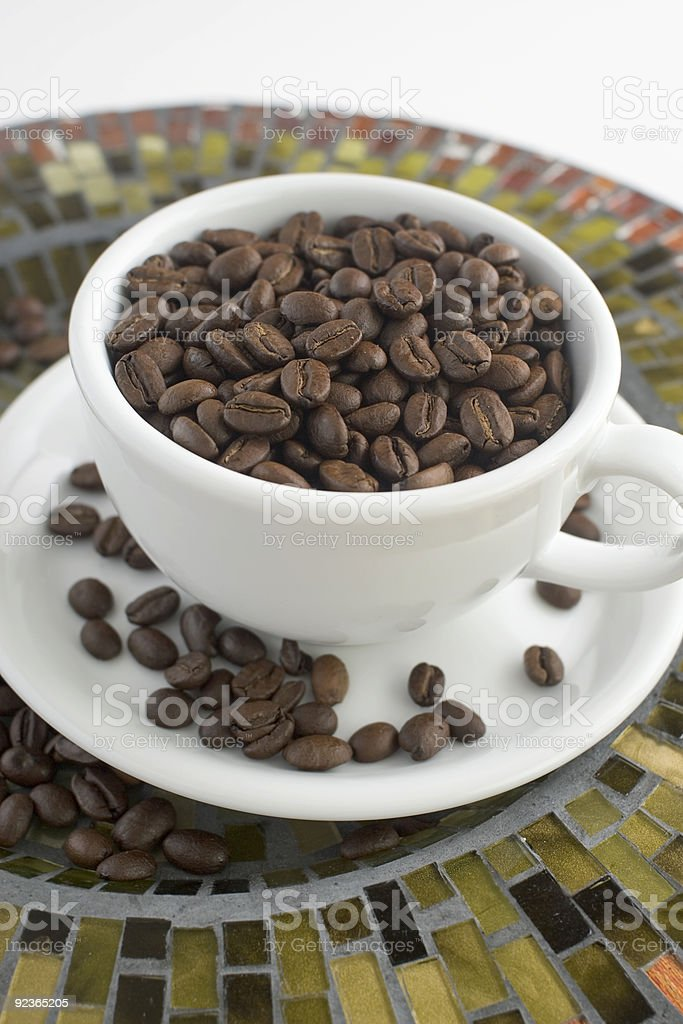 cup of beans royalty-free stock photo