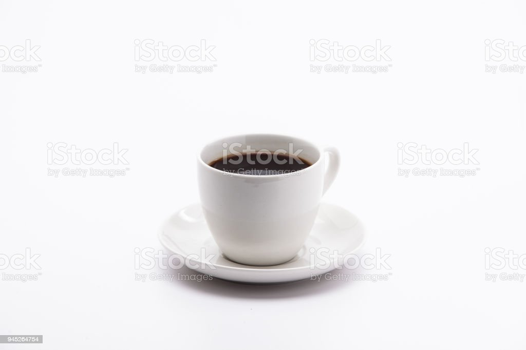 A cup of black coffee isolated on white background - Royalty-free Breakfast Stock Photo