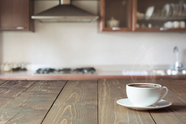 Cup of black coffee on wooden tabletop in blurred modern kitchen up picture id975708586?b=1&k=6&m=975708586&s=612x612&w=0&h=uyd bumxxfglemaliagzcnvoo59qd1nqpbwobdxj6fo=