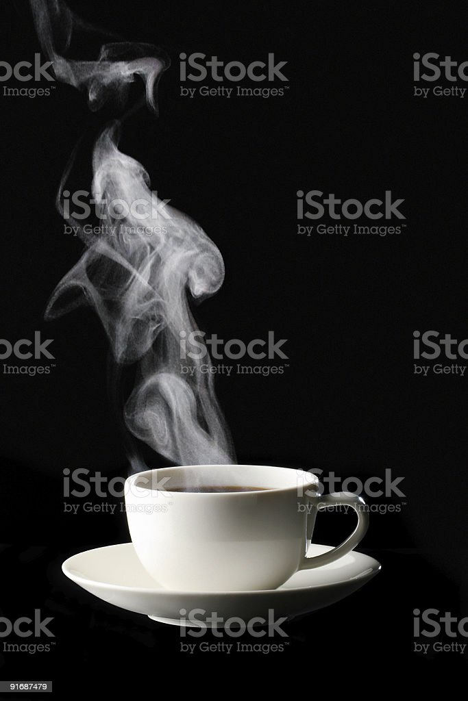 Cup of black coffee royalty-free stock photo