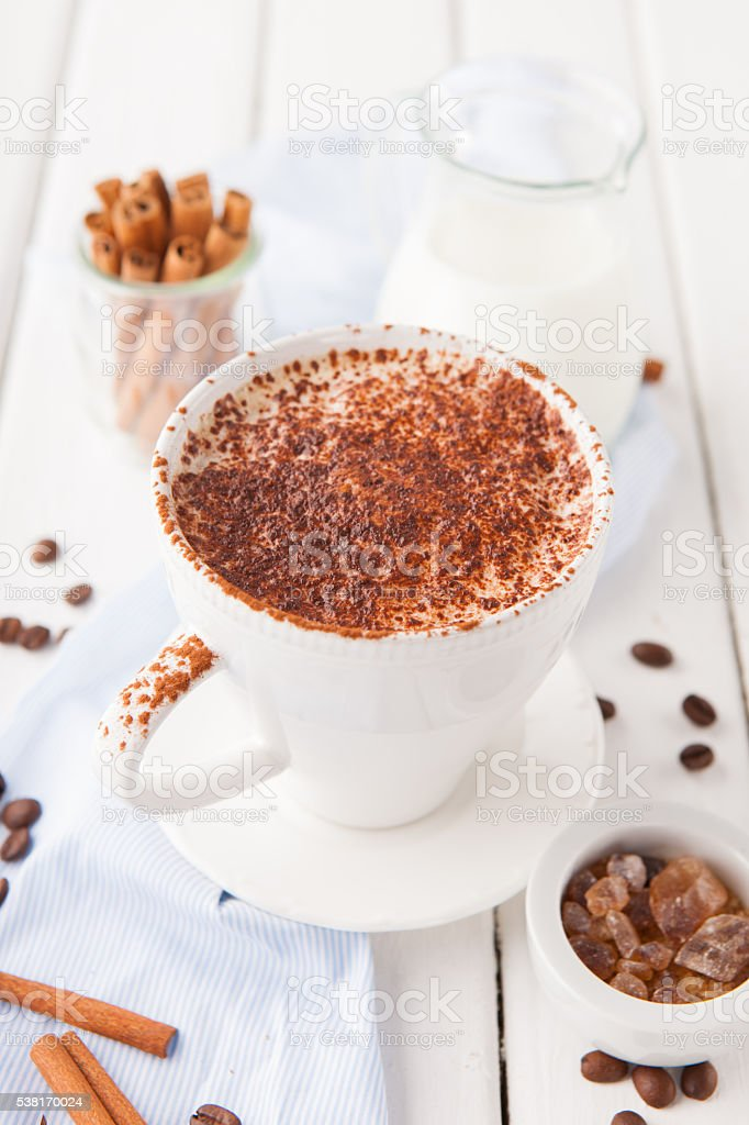 Cup of Cappuccino Coffee stock photo