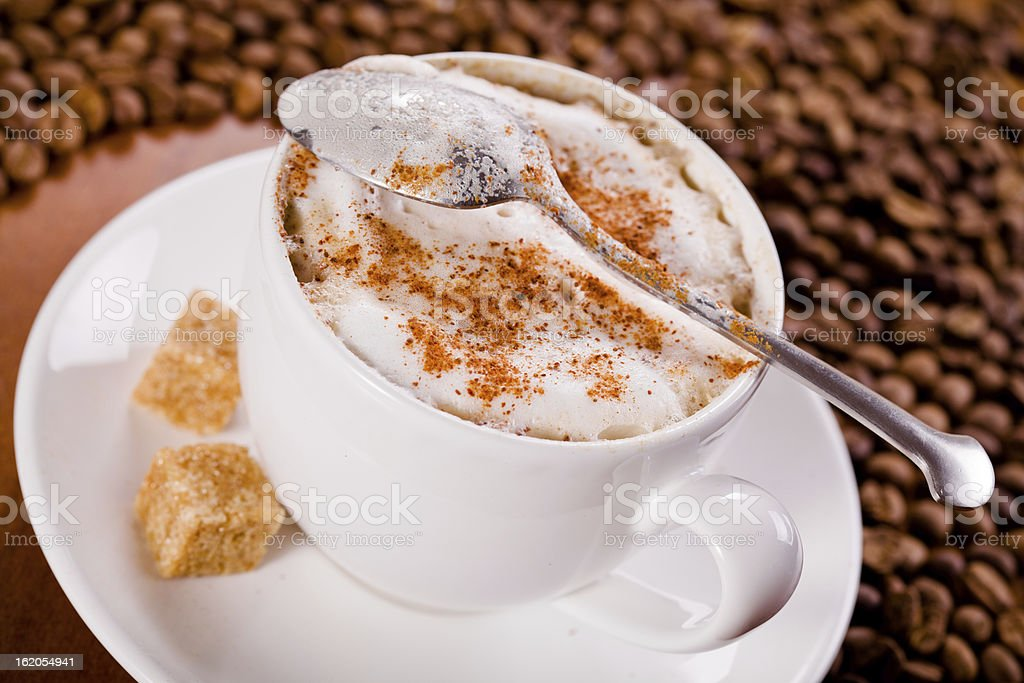 Cup Of Cappuccino royalty-free stock photo