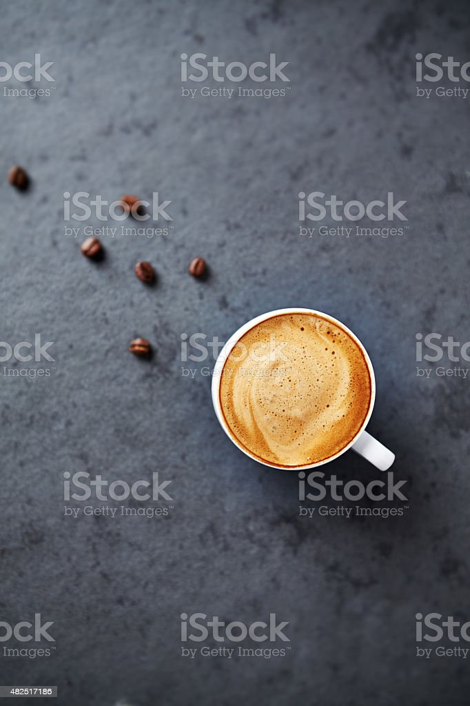 Cup of Cappuccino stock photo