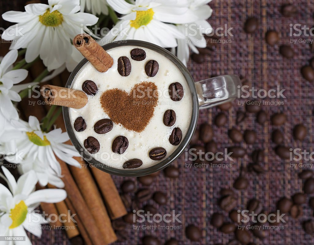 Cup of Cappuccino with  royalty-free stock photo