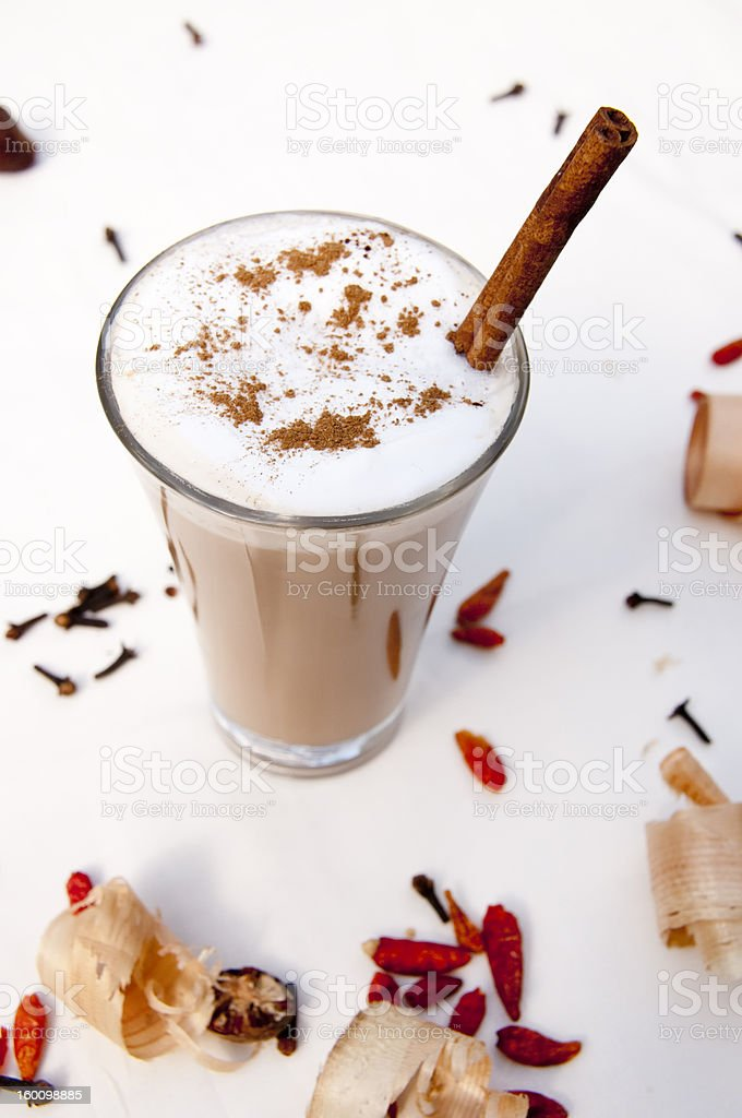 Cup of chai latte royalty-free stock photo