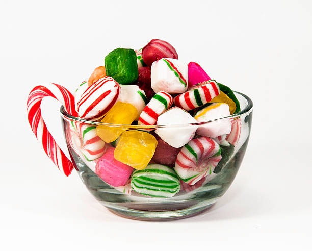 cup of christmas candy stock photo - Christmas Candy Dishes
