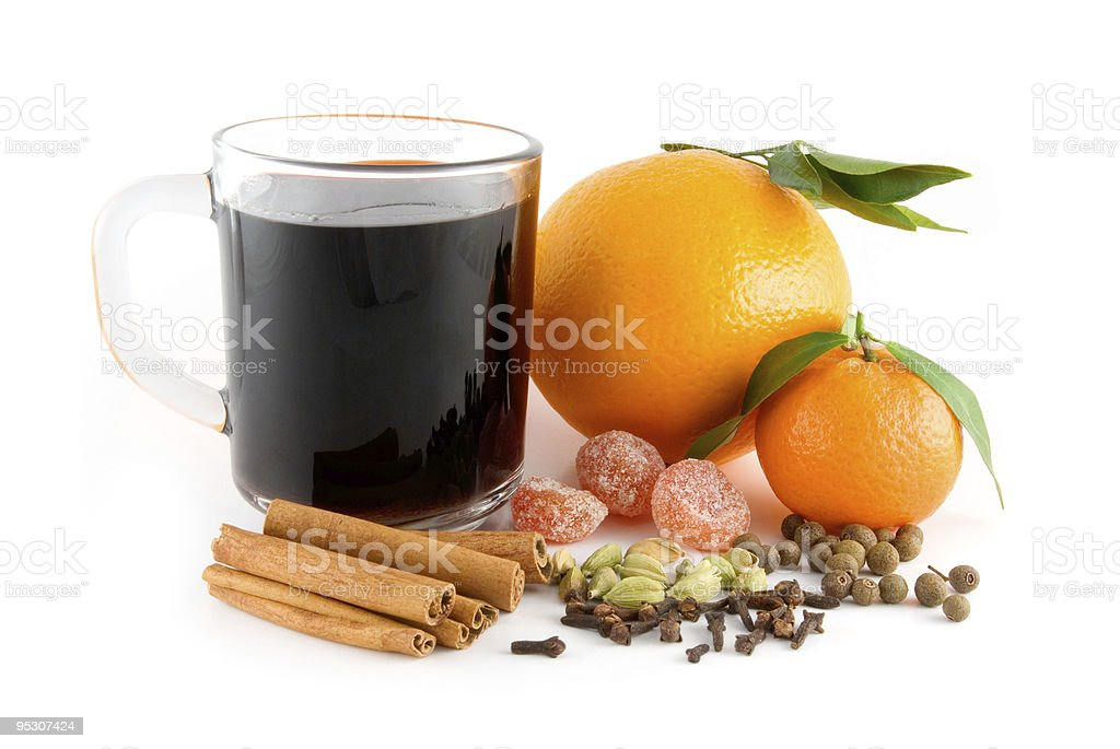 Cup of christmas drink royalty-free stock photo