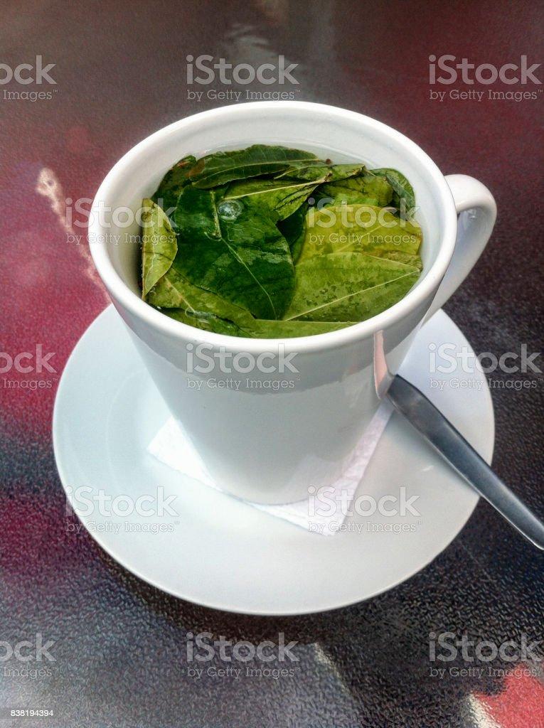 Cup Of Coca Tea Mate De Coca In Peru Stock Photo - Download