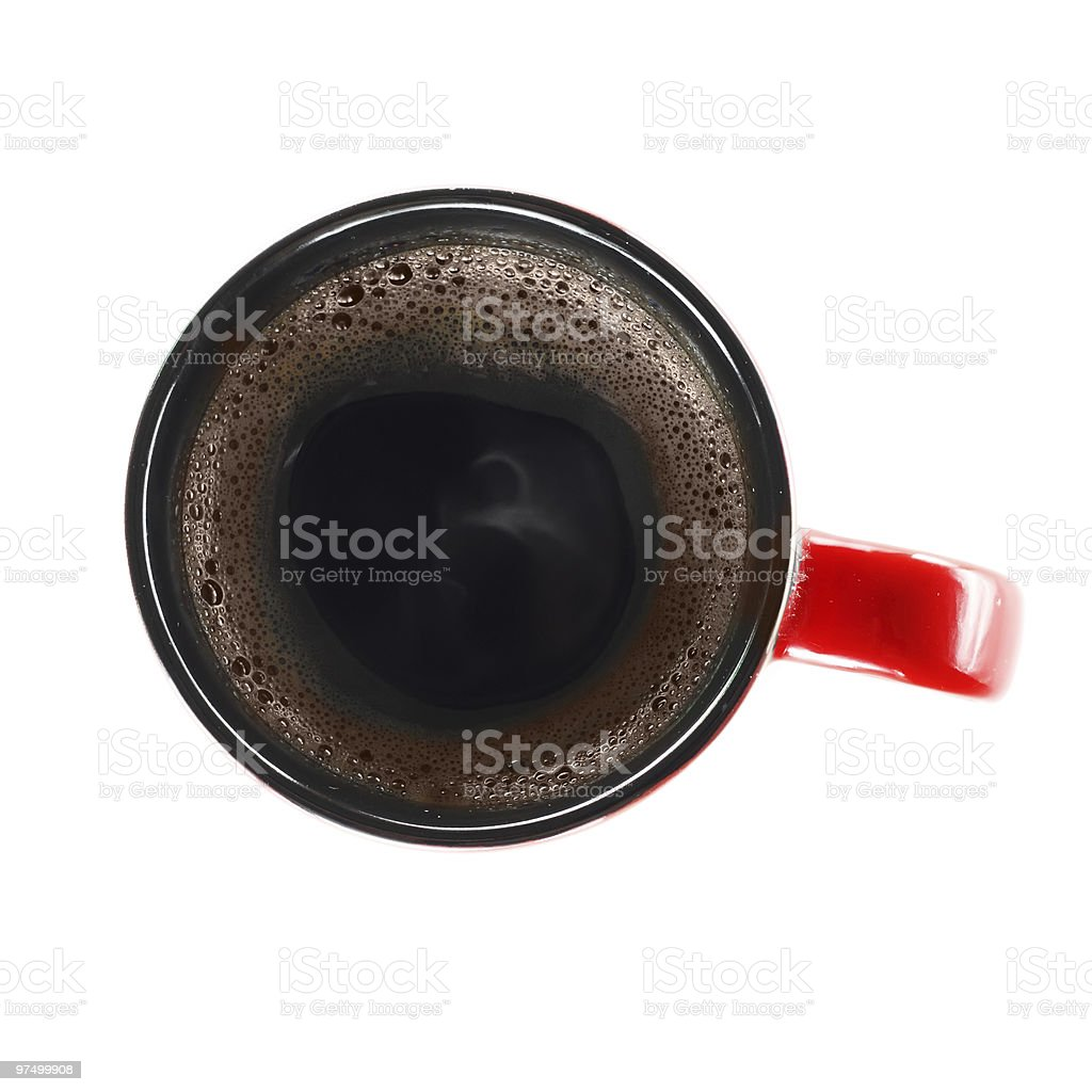 Cup of coffe from above royalty-free stock photo