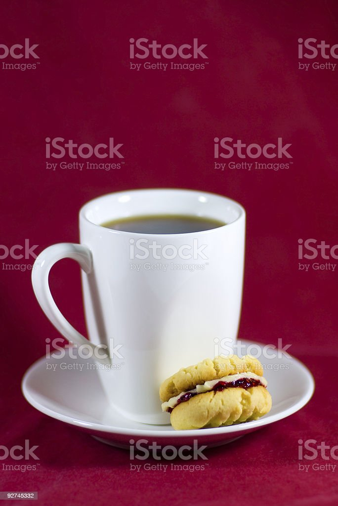 Tasse Kaffee und biscuit Lizenzfreies stock-foto