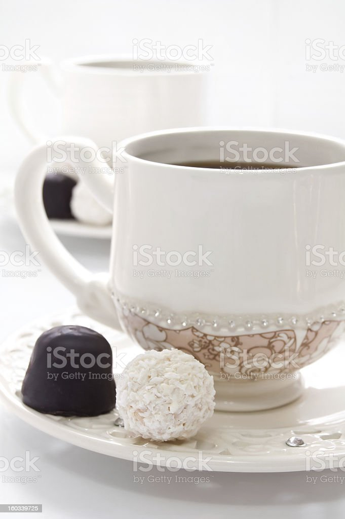 Cup of Coffee and chocolate royalty-free stock photo