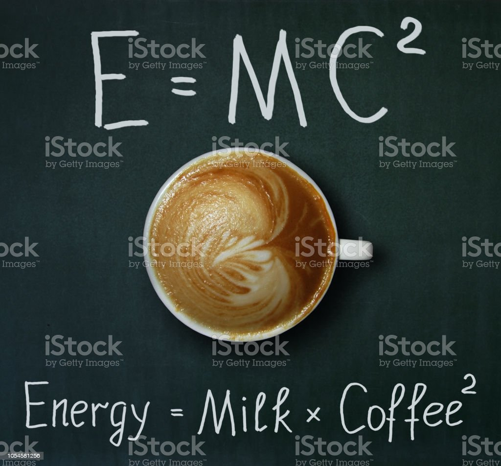 Cup of coffee and formula stock photo