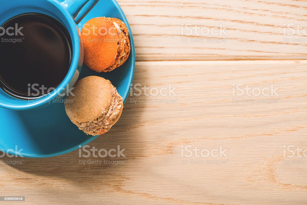 Cup of coffee at table royalty-free stock photo