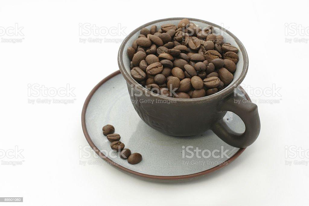Filiżanka kawy Fasola zbiór zdjęć royalty-free