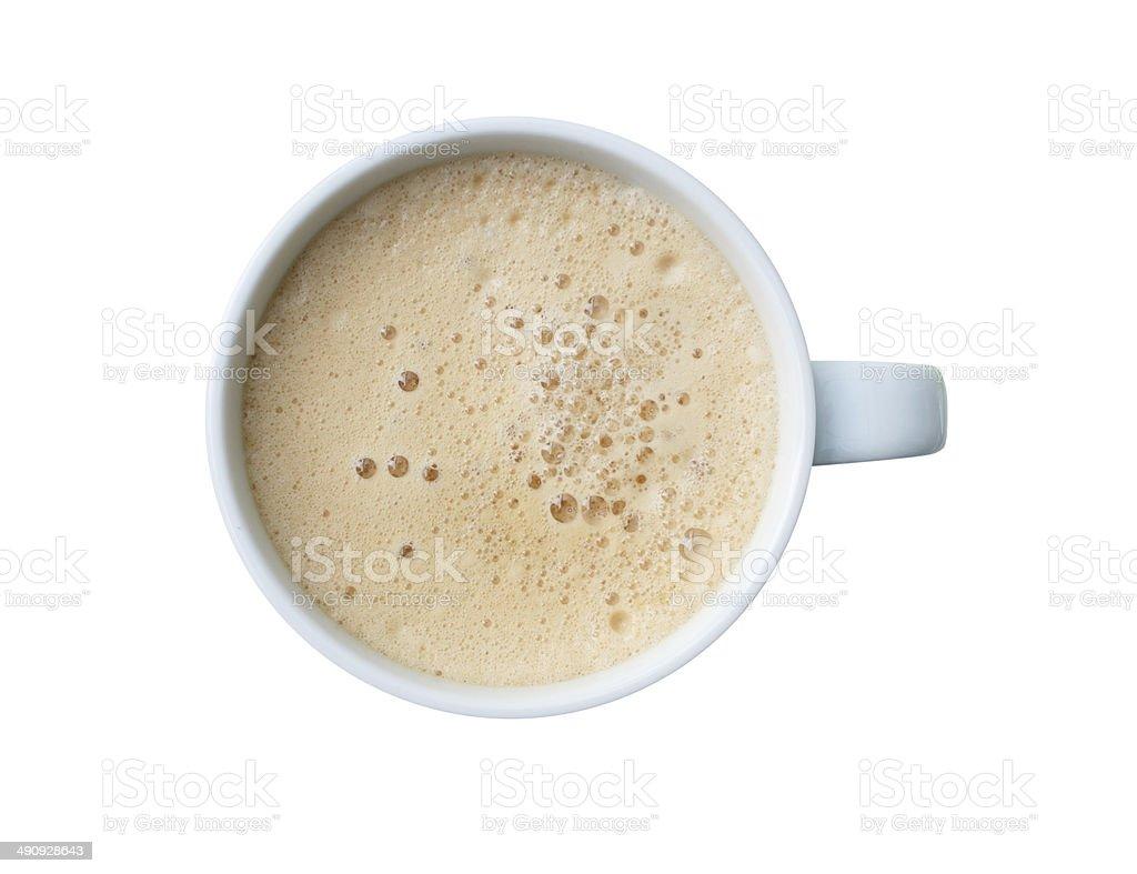 Tasse Kaffee, die isoliert auf weißem Hintergrund – Foto