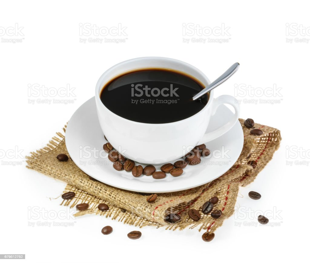 cup of coffee isolated royalty-free stock photo