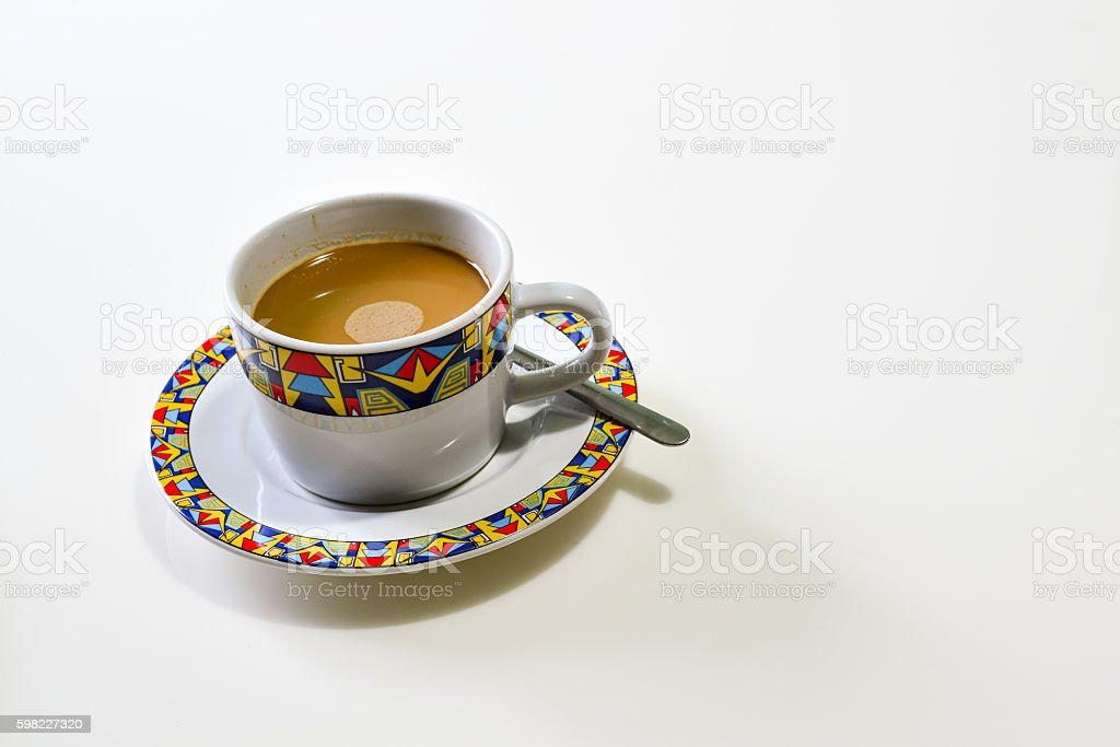 Cup of Coffee on the white Background, Breakfast foto royalty-free