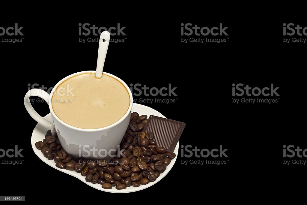 Cup of coffee or cappuccino royalty-free stock photo