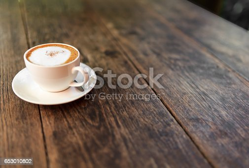 Cup of coffee, hot cappuccino