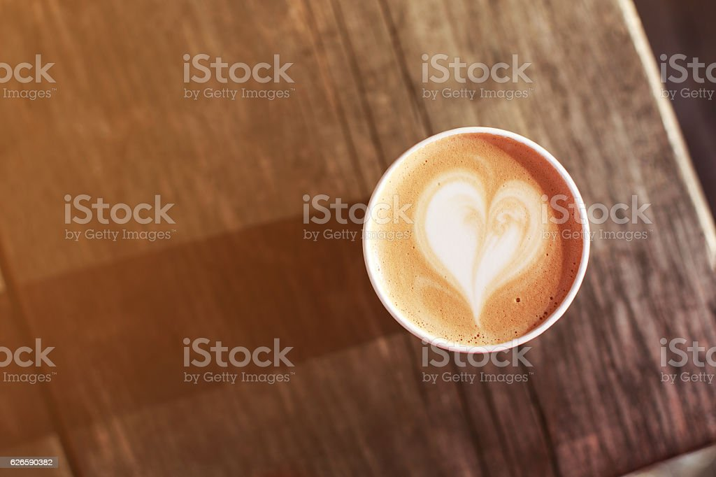Cup of coffee to go stock photo
