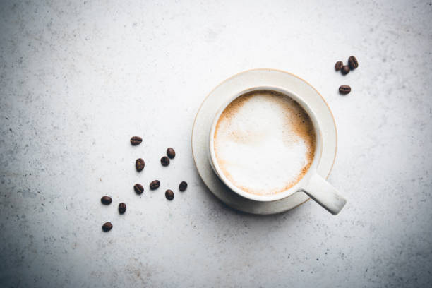 Tasse Kaffee Top-Ansicht – Foto
