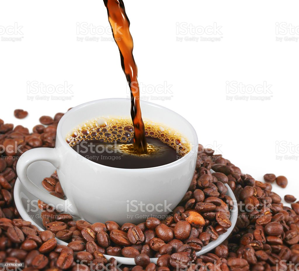 cup of coffee white royalty-free stock photo