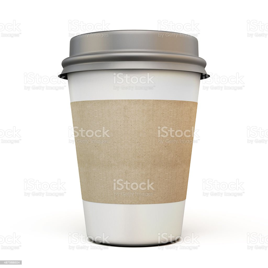 Cup of coffee with a dark cap stock photo