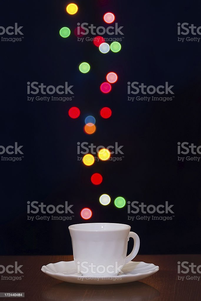 Cup of Coffee with Bokeh royalty-free stock photo