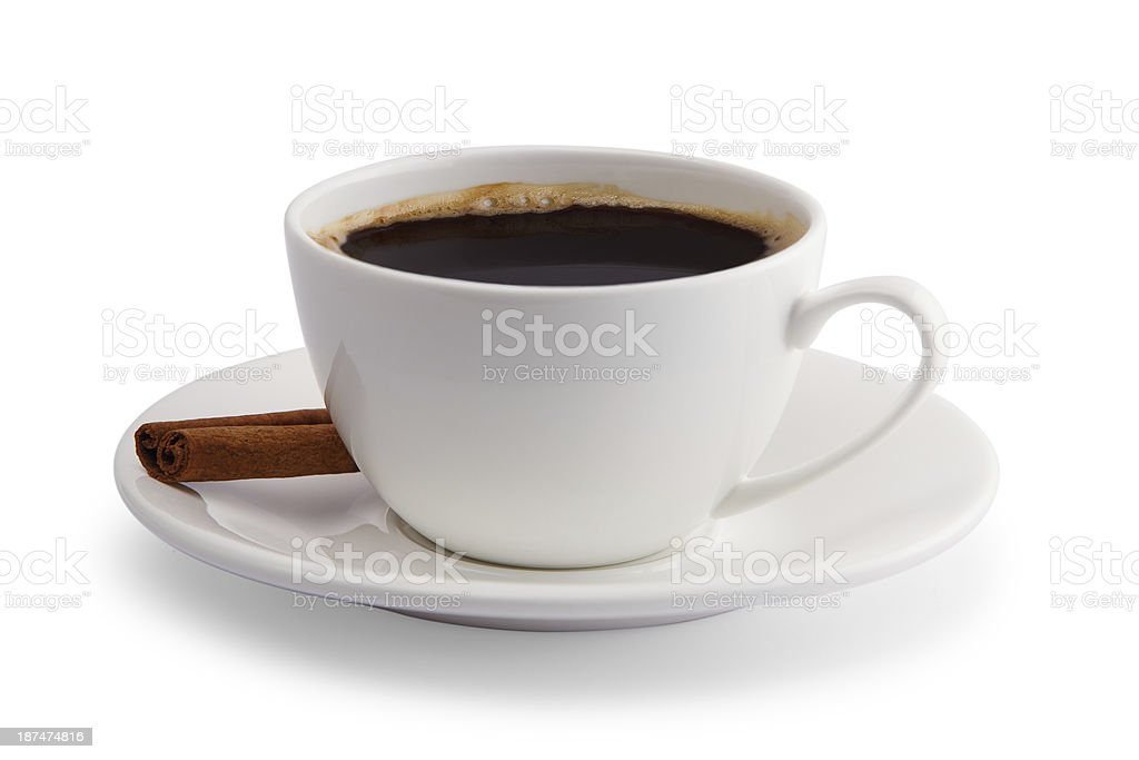 cup of coffee with cinnamon royalty-free stock photo
