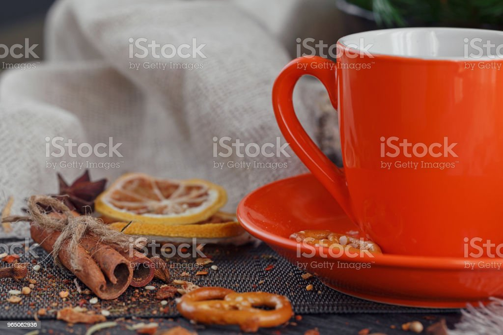 Cup of coffee with cookies zbiór zdjęć royalty-free