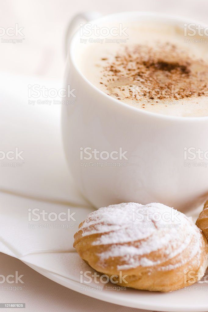 cup of coffee with cream royalty-free stock photo