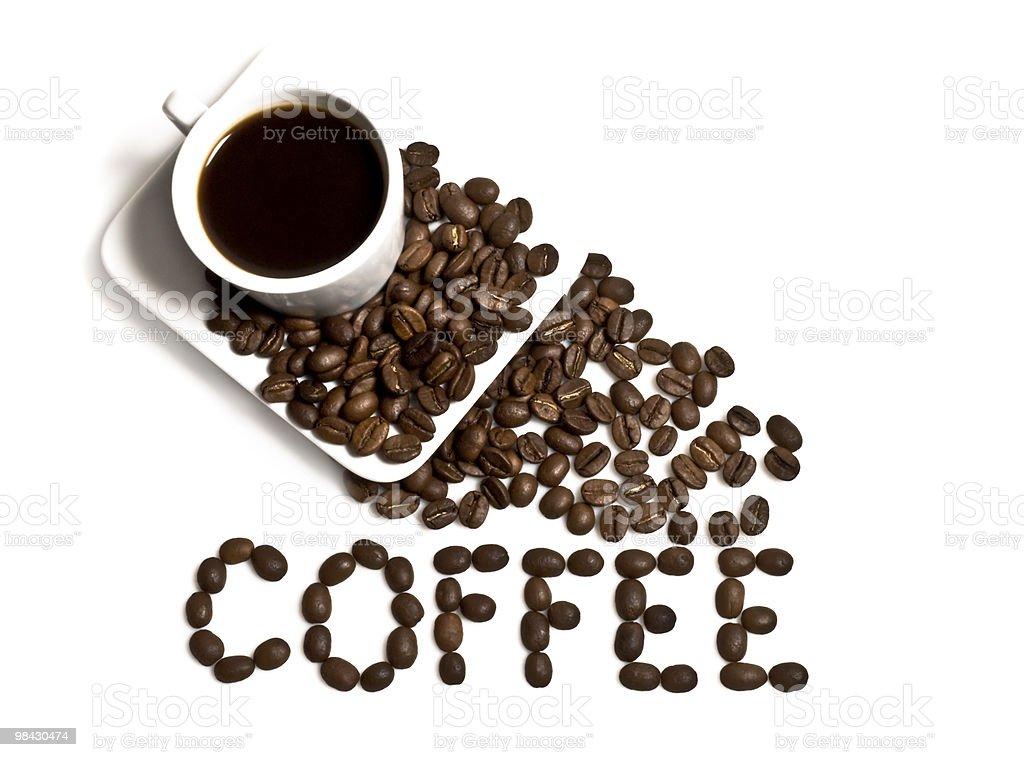 잔의 커피와 낟알 royalty-free 스톡 사진