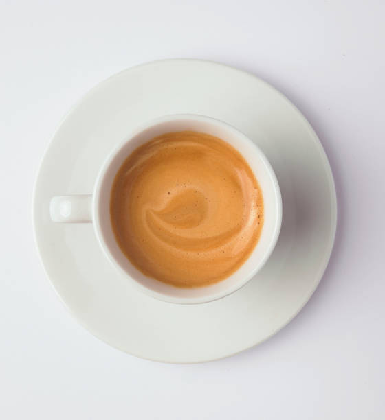 tasse kaffee mit milch - mokkatassen stock-fotos und bilder