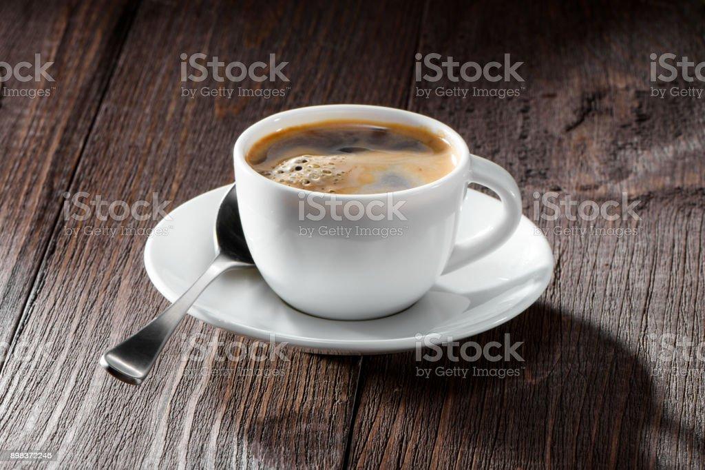 tasse de café avec gros plan mousse nice - Photo