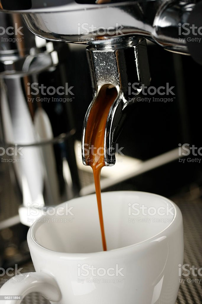cup of espresso shot with crema royalty-free stock photo