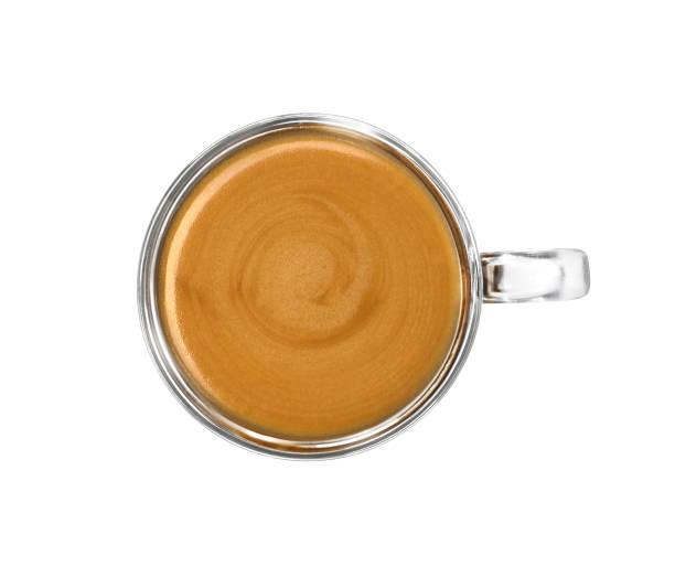 tasse espresso top-ansicht - mokkatassen stock-fotos und bilder