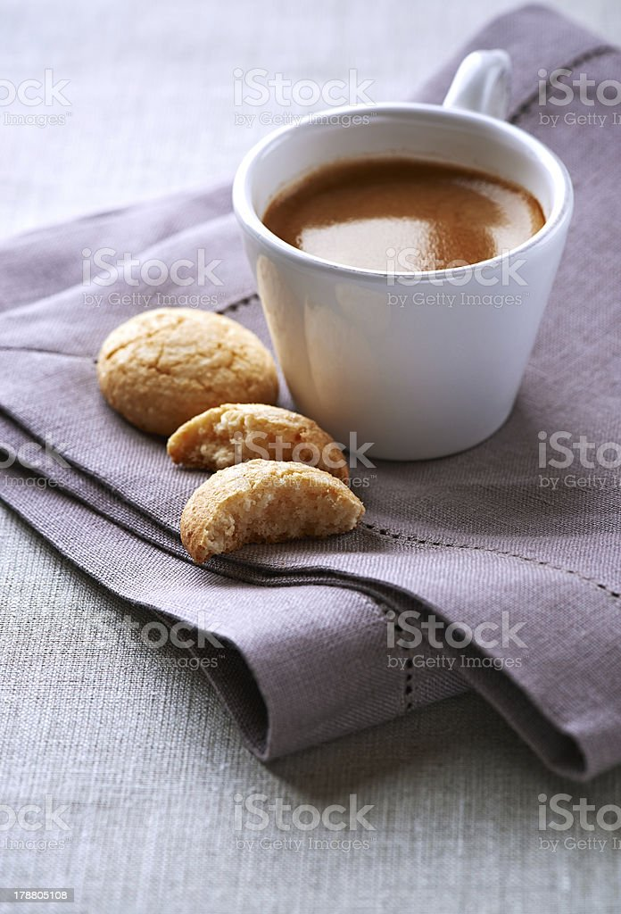 Cup of espresso with biscotti royalty-free stock photo