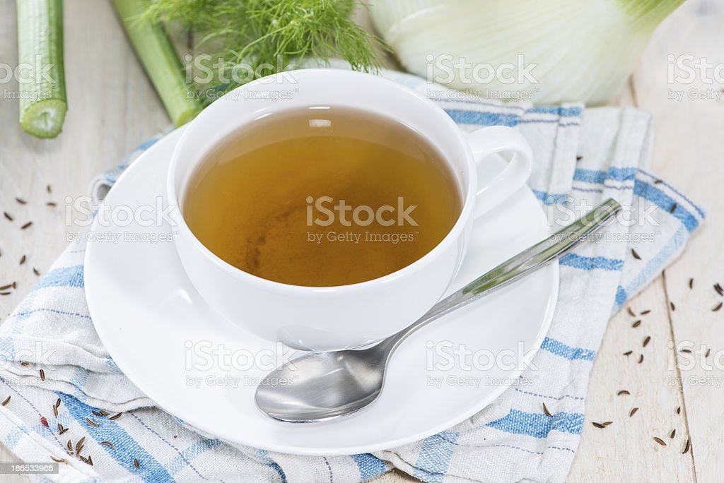 Cup of Fennel Tea stock photo