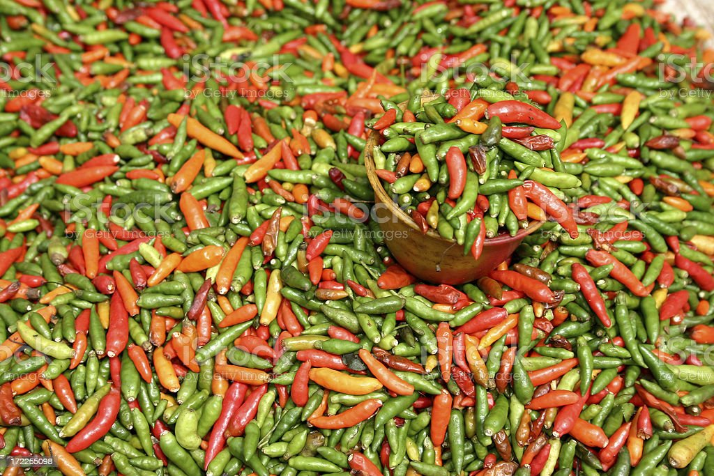 Cup of Fresh Chilis royalty-free stock photo
