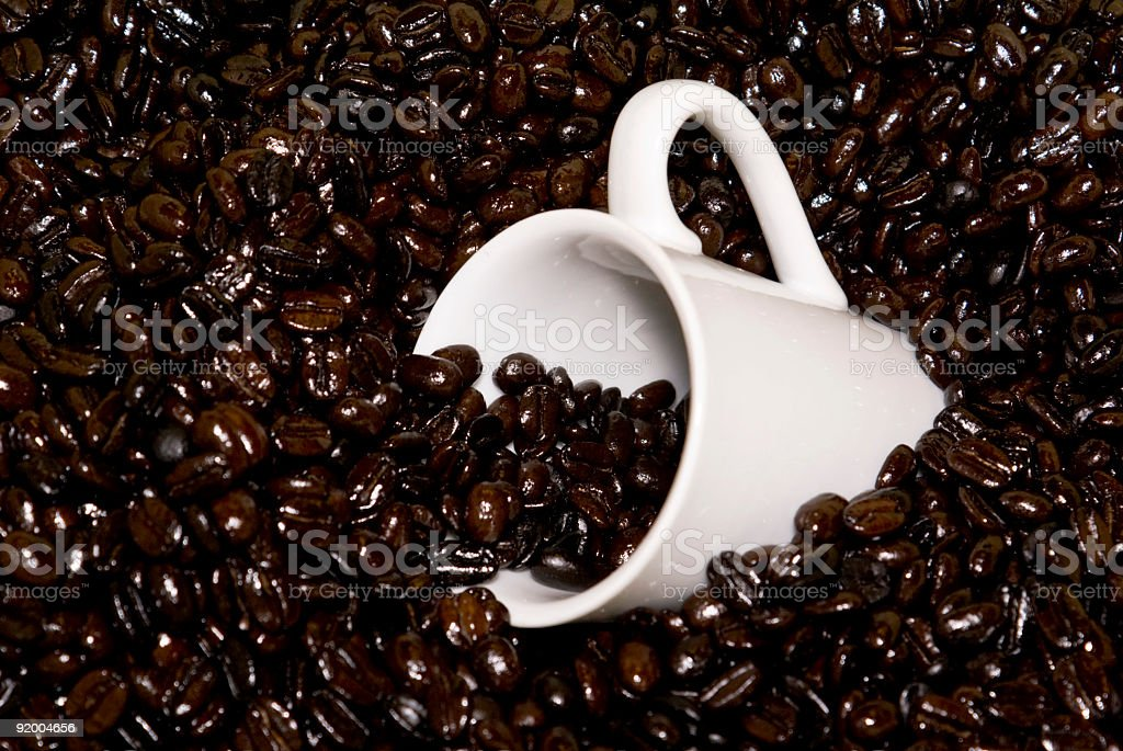 Cup of Freshly Roasted Coffee Beans royalty-free stock photo